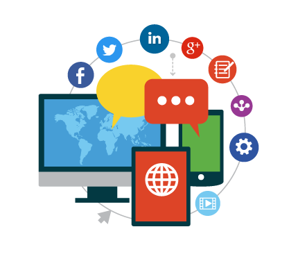 Statistics vector social media strategy. Helping you build your