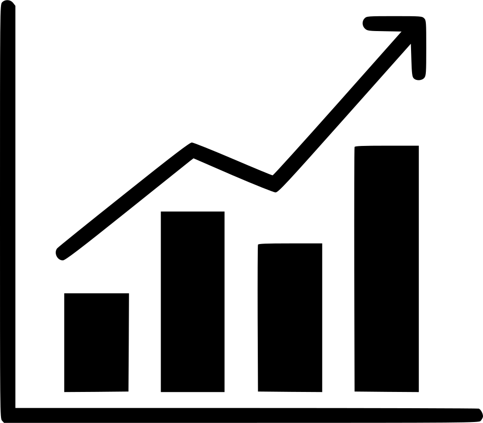 Statistics vector svg. Bussiness analysis report chart