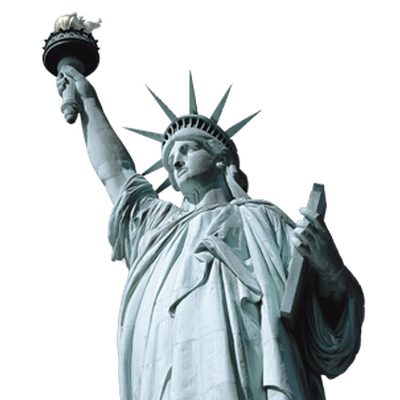 Statue looking up png. Of liberty close transparent