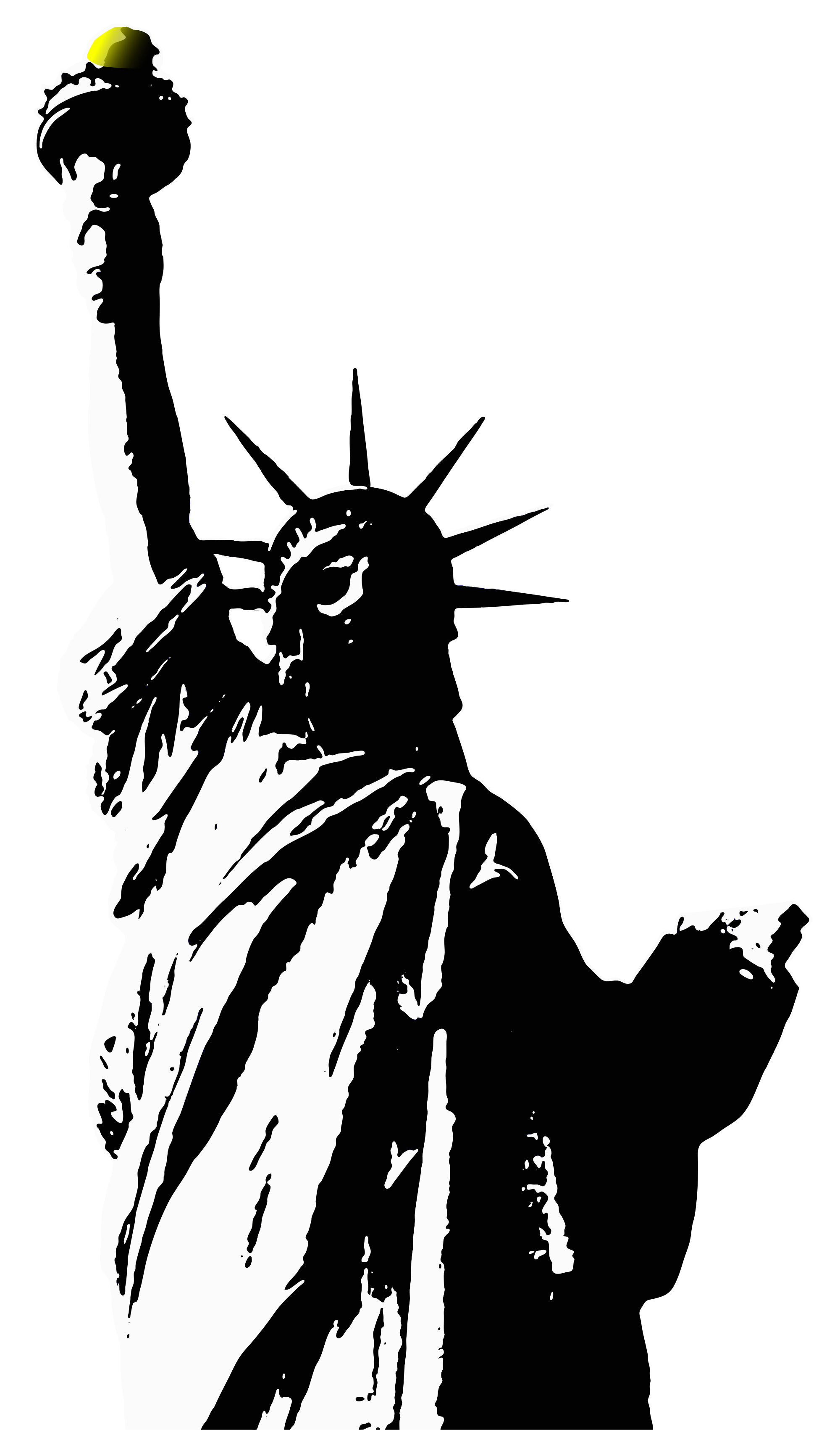 Statue of liberty black and white png. Image purepng free transparent