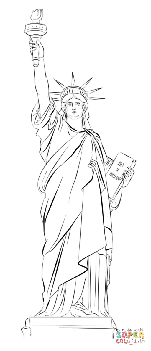 Statue of liberty clipart arm. The drawing at getdrawings