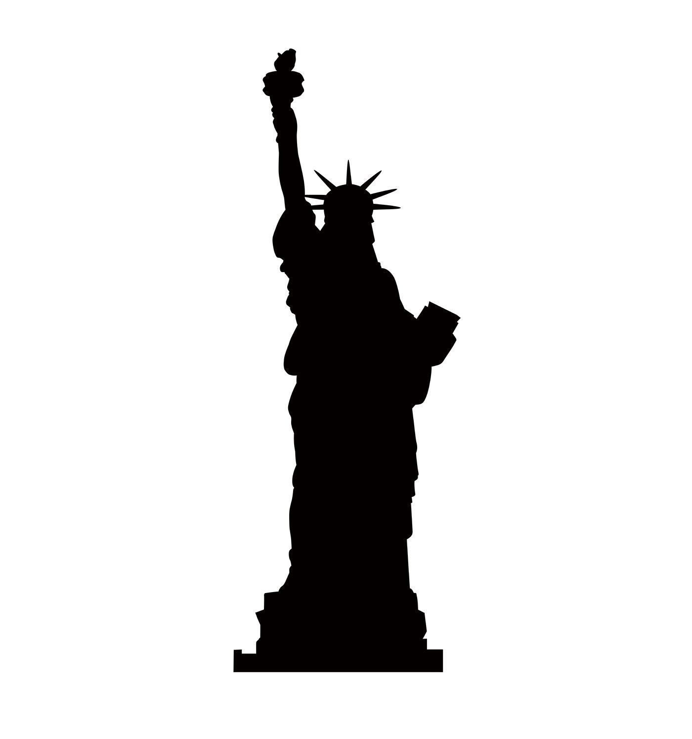 Statue of liberty clipart cardboard. Silhouette stand up features