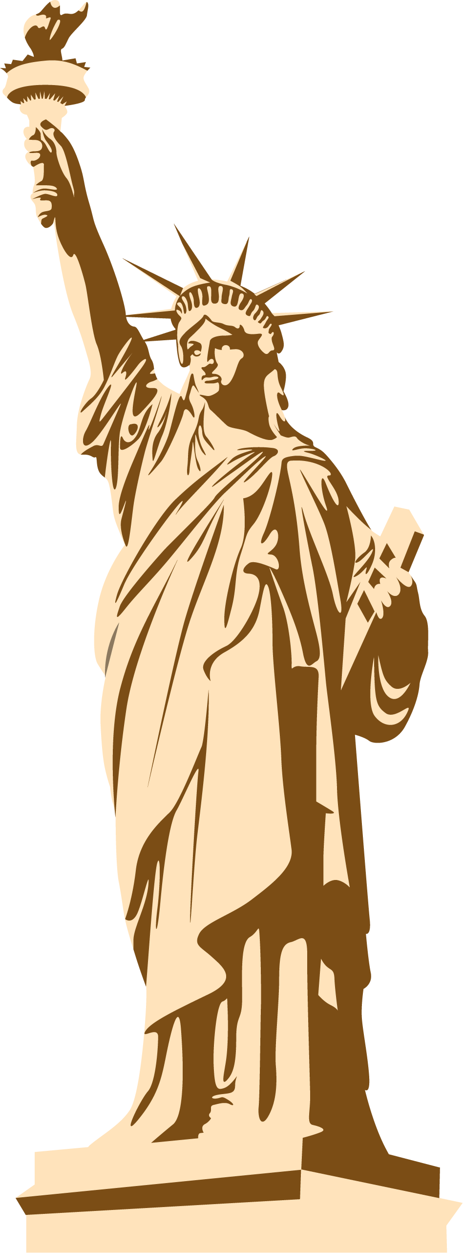 Statue of liberty clipart individual liberty. Png transparent free images
