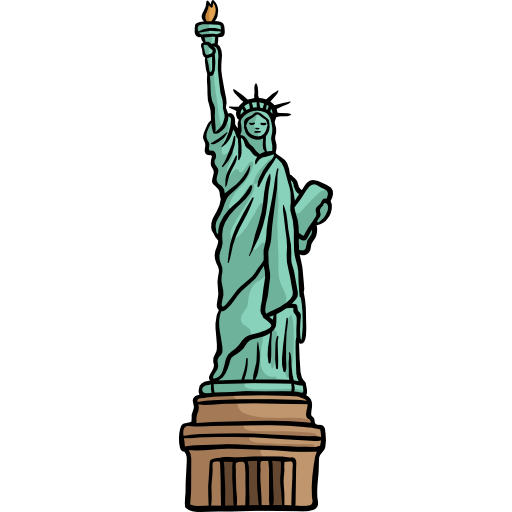 Twin towers and statue of liberty png. Free monuments icons icon