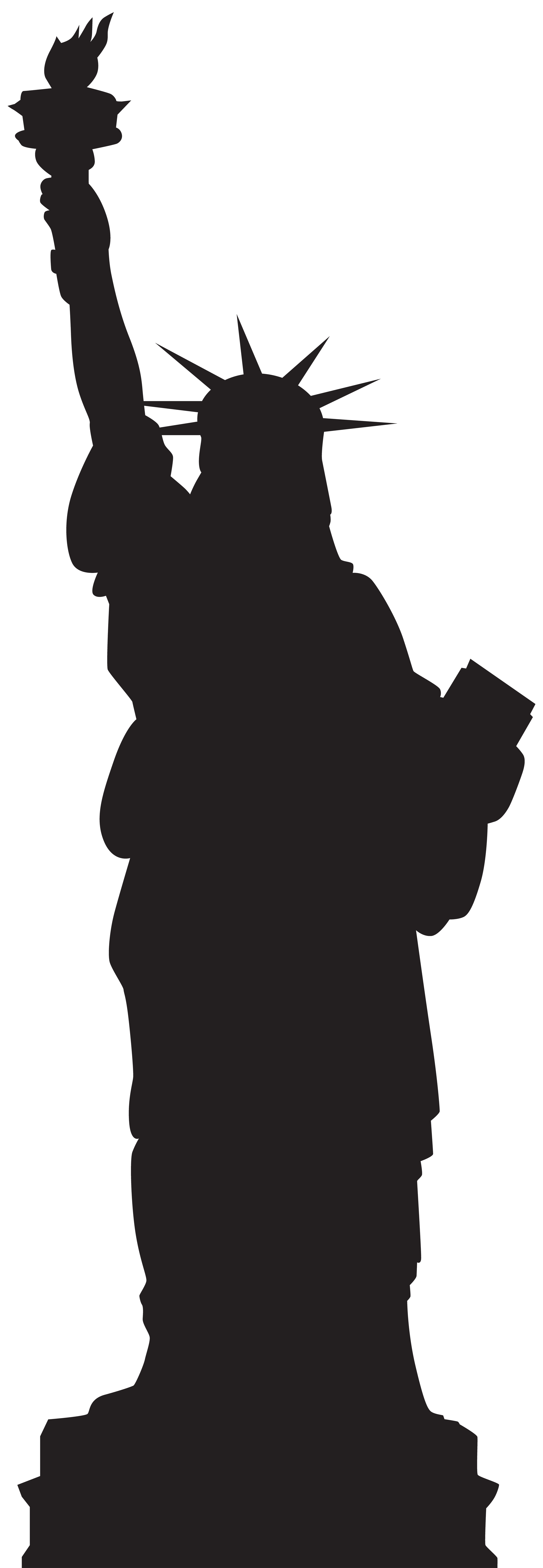 Statue silhouette png