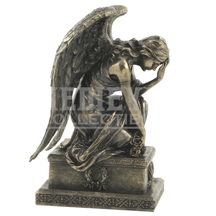 Statue png grief. Bronze mourning angel wu