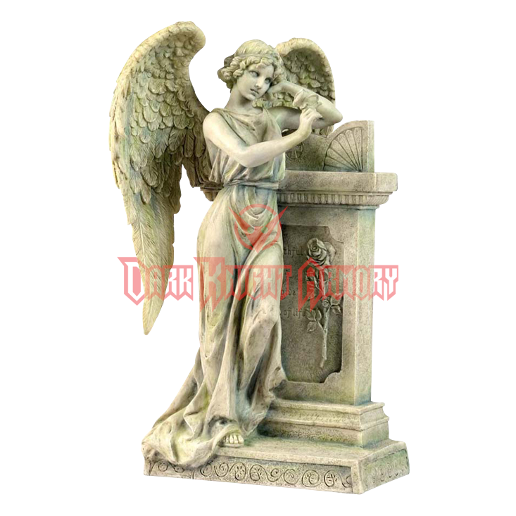 Statue png grief. Angel leaning on a