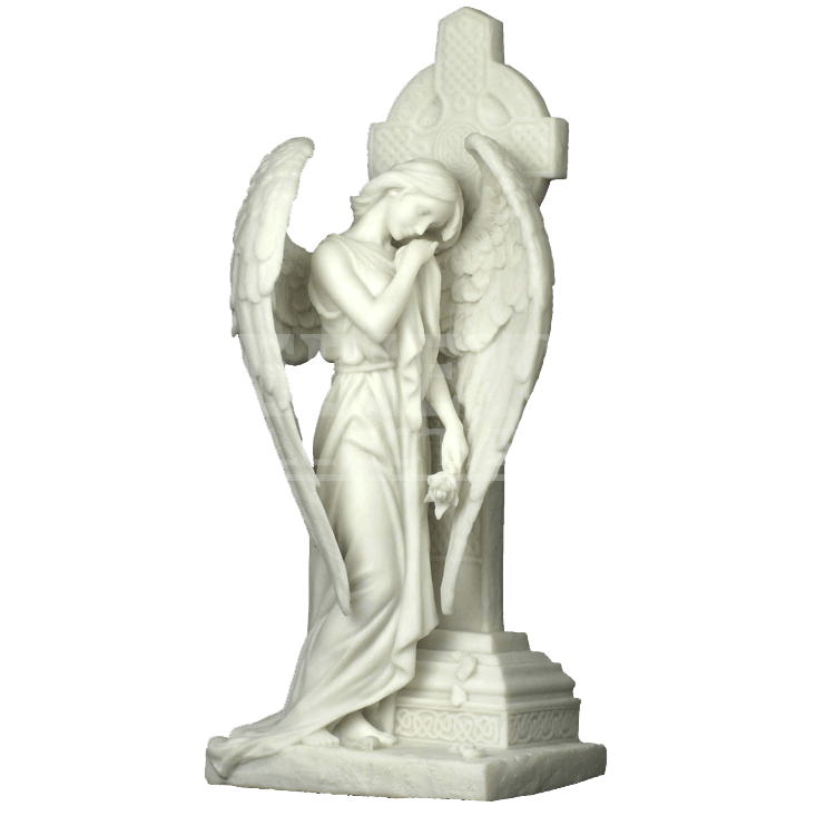 Statue png grief. Mourning angel leaning on