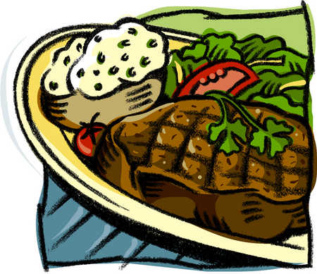 steak clipart home cooked meal