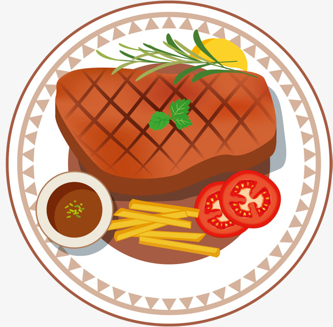 Steak clipart main dish. Striped side of the