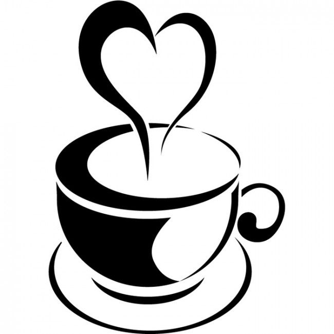 Steam clipart coffee morning. Best silhouettes cafe