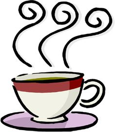 Steam clipart coffee morning. Black and white panda