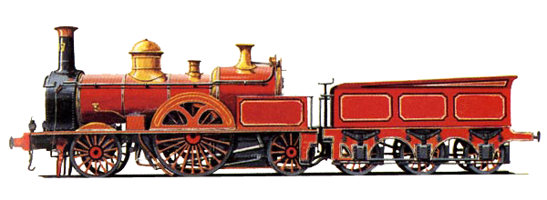 Steam engine png. Victorian locomotive image transparent