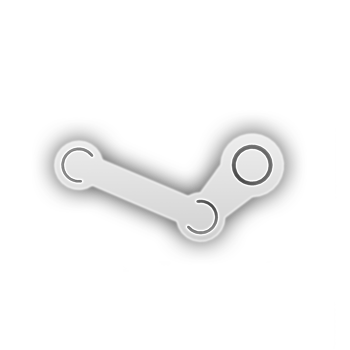 Steam logo white png. Minimalist icon by un
