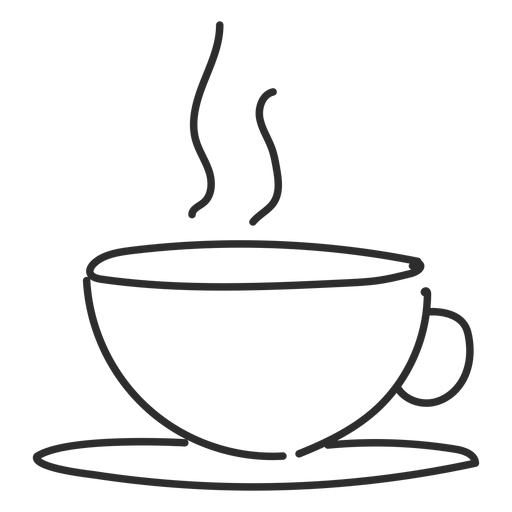 Steam vector png. Cup saucer doodle stroke