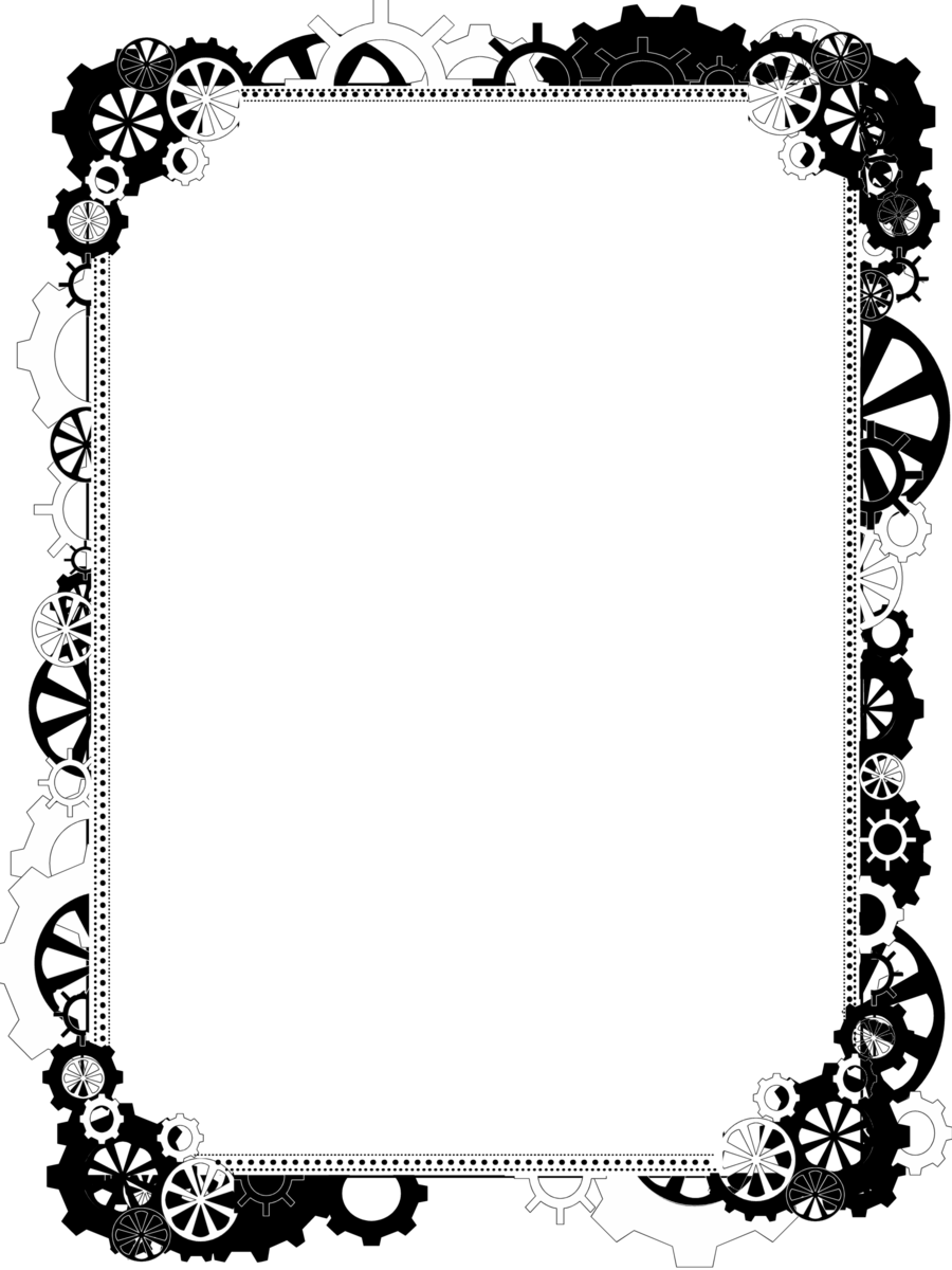 Steampunk clipart borders. Bdr png bling by
