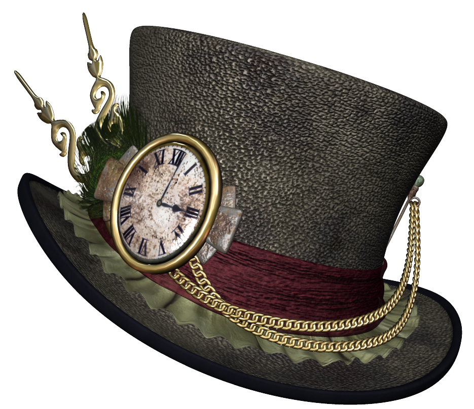 Steampunk clipart borders. Hat png picture gallery