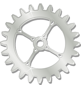 Drawing gears bike gear