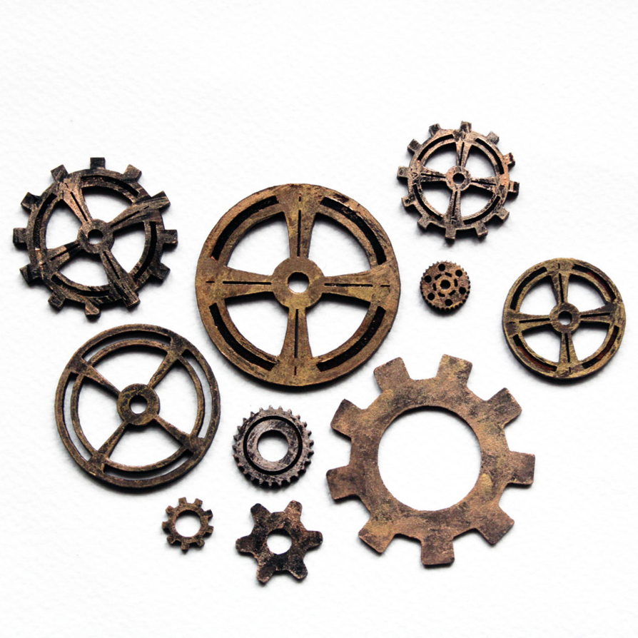 transparent gear steampunk