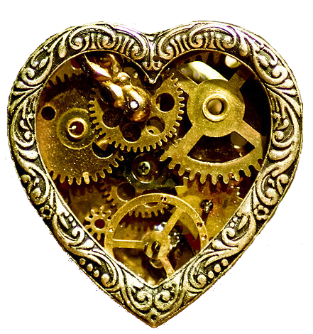 Steampunk heart png. Level design from lyrics