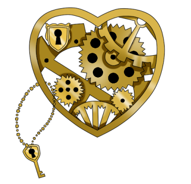 Steampunk heart png. By saigo no namida