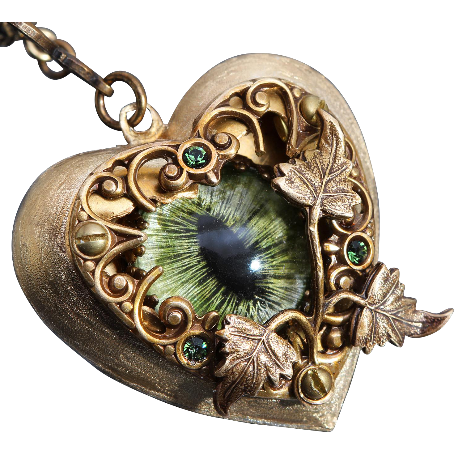 Steampunk heart png. Necklace dragon eye i