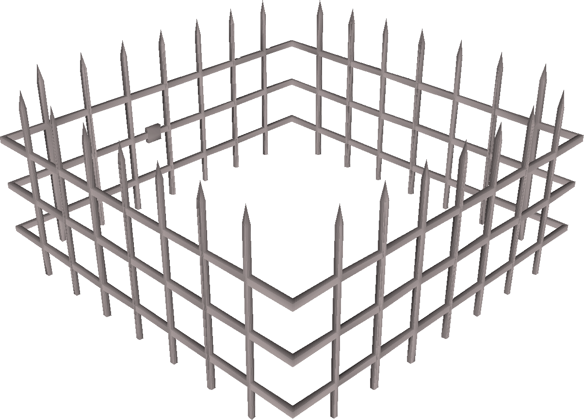 Steel cage png. Image oubliette built old