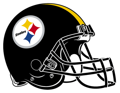 Steelers vector drawing. Football helmet clipart