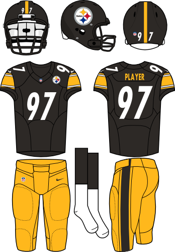Pittsburgh Steelers Home Uniform Jersey Vector Printable