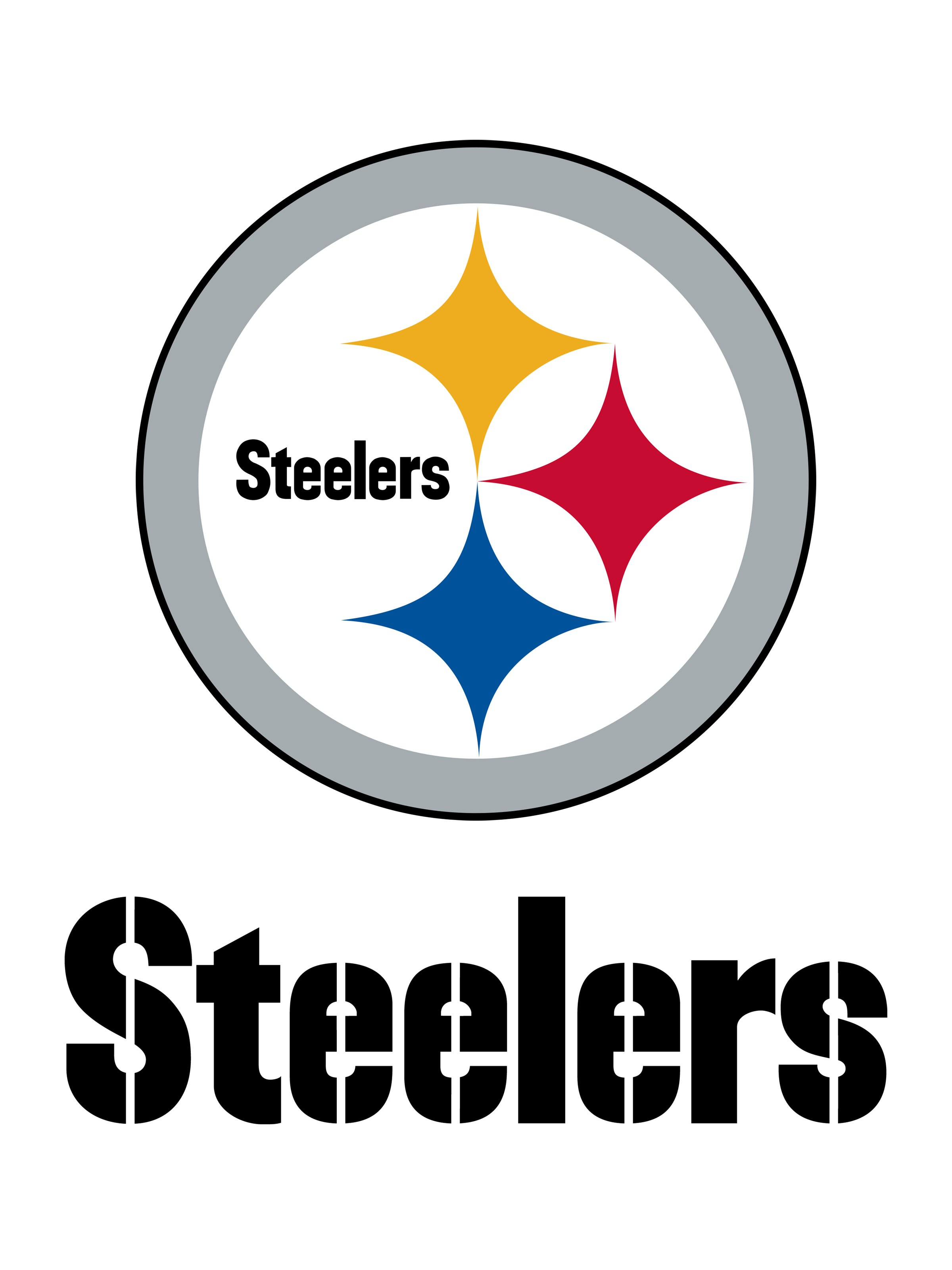 Steelers vector typography. Pittsburgh logo png transparent