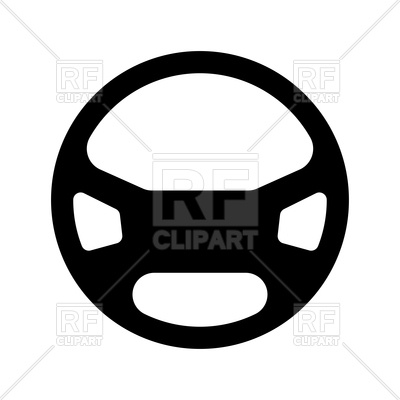 Wheel black icon royalty. Steering clipart black and white download