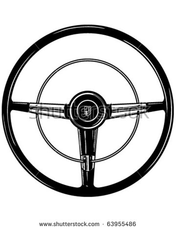 Retro wheel illustration stock. Steering clipart png download