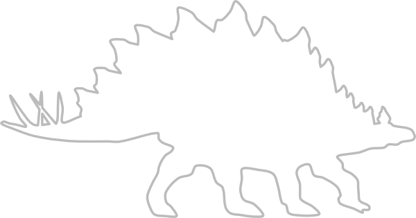 Stegosaurus vector outline. Clip art at clker