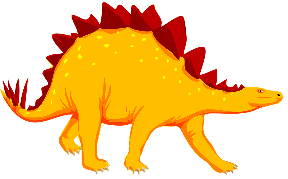 Stegosaurus vector outline. Collection of free deinosaur