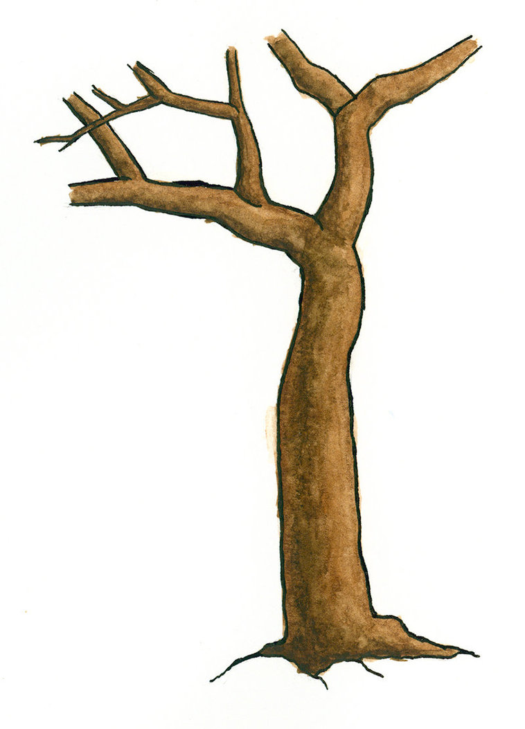 stem clipart tree body