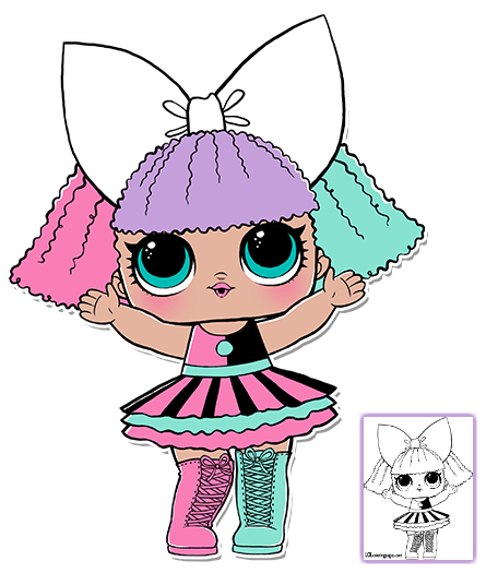 Stem drawing doll. Lol surprise coloring pages