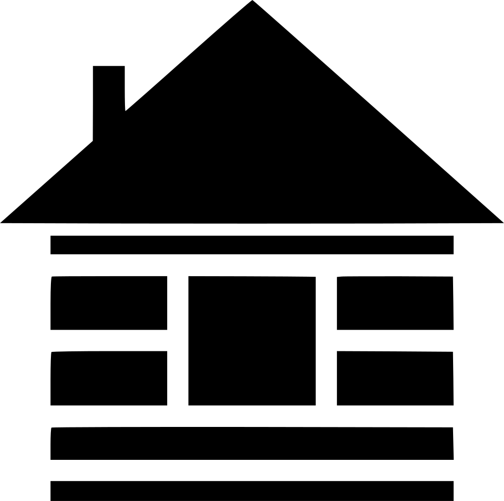 Stencil svg cabin. Wood png icon free