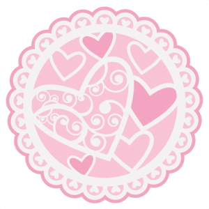 Stencil svg doily. Valentine cutting file for