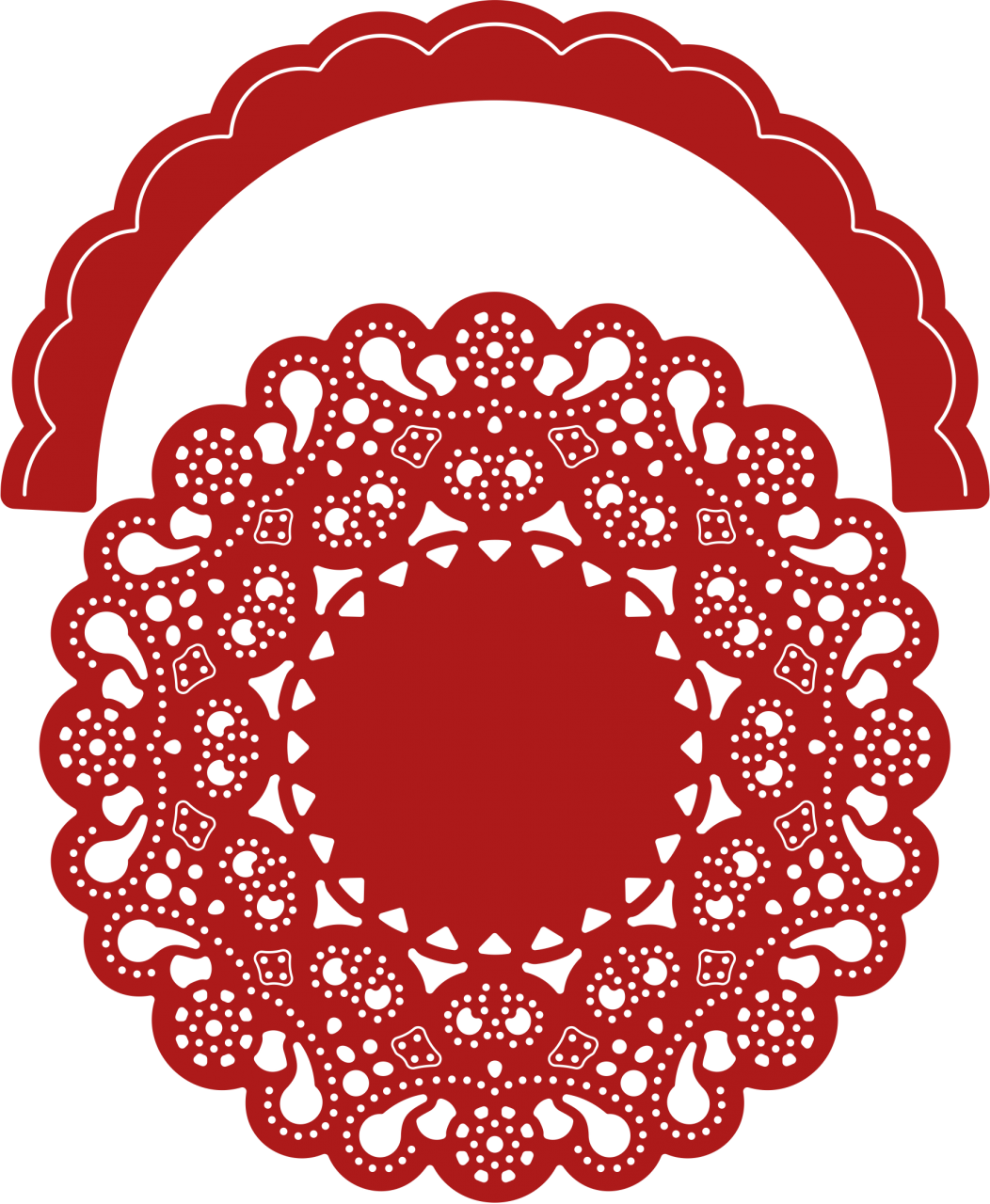 Cheery lynn dies priscilla. Doily transparent png black and white library