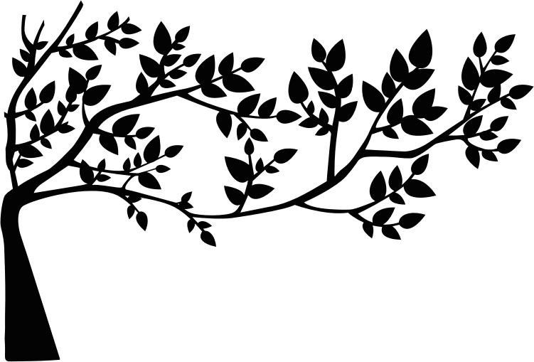 Stencil svg leaf. Clipart tree and leaves