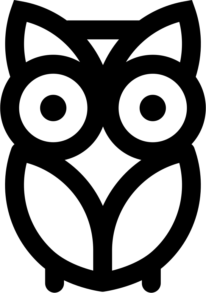 Stencil svg owl. Png icon free download