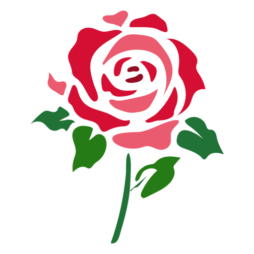 Stencil svg rose. Abstract icon flower transparent