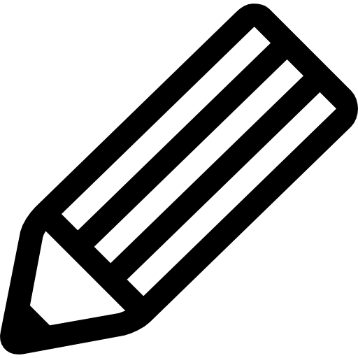 Stencil svg stripes. Pencil striped outlined tool