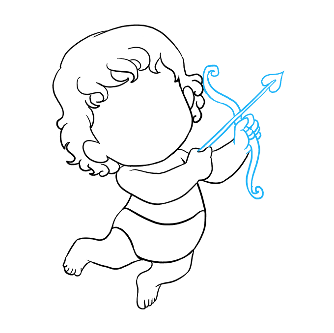 How to draw cupid. Step drawing clip freeuse stock