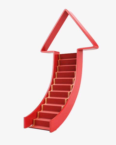 Steps clipart arrow. Red cartoon ladder stairs