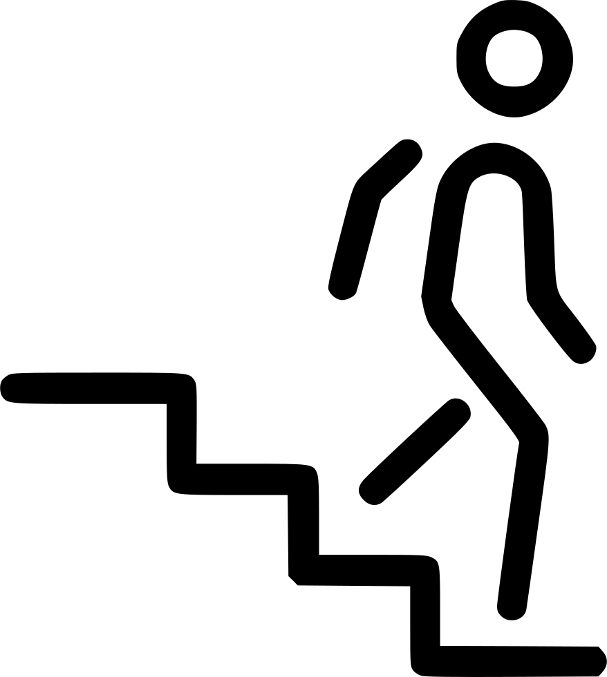 Steps clipart upstairs downstairs. Svg png icon free