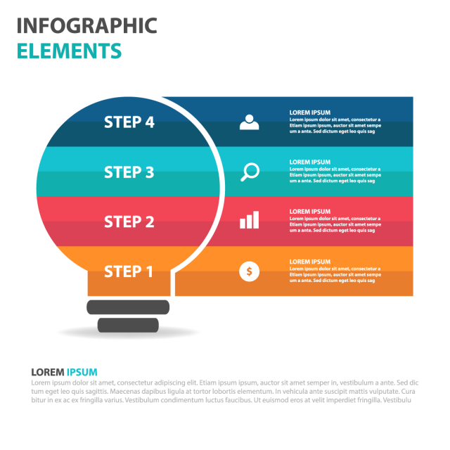 Steps vector infographic design idea. Pin by radja on