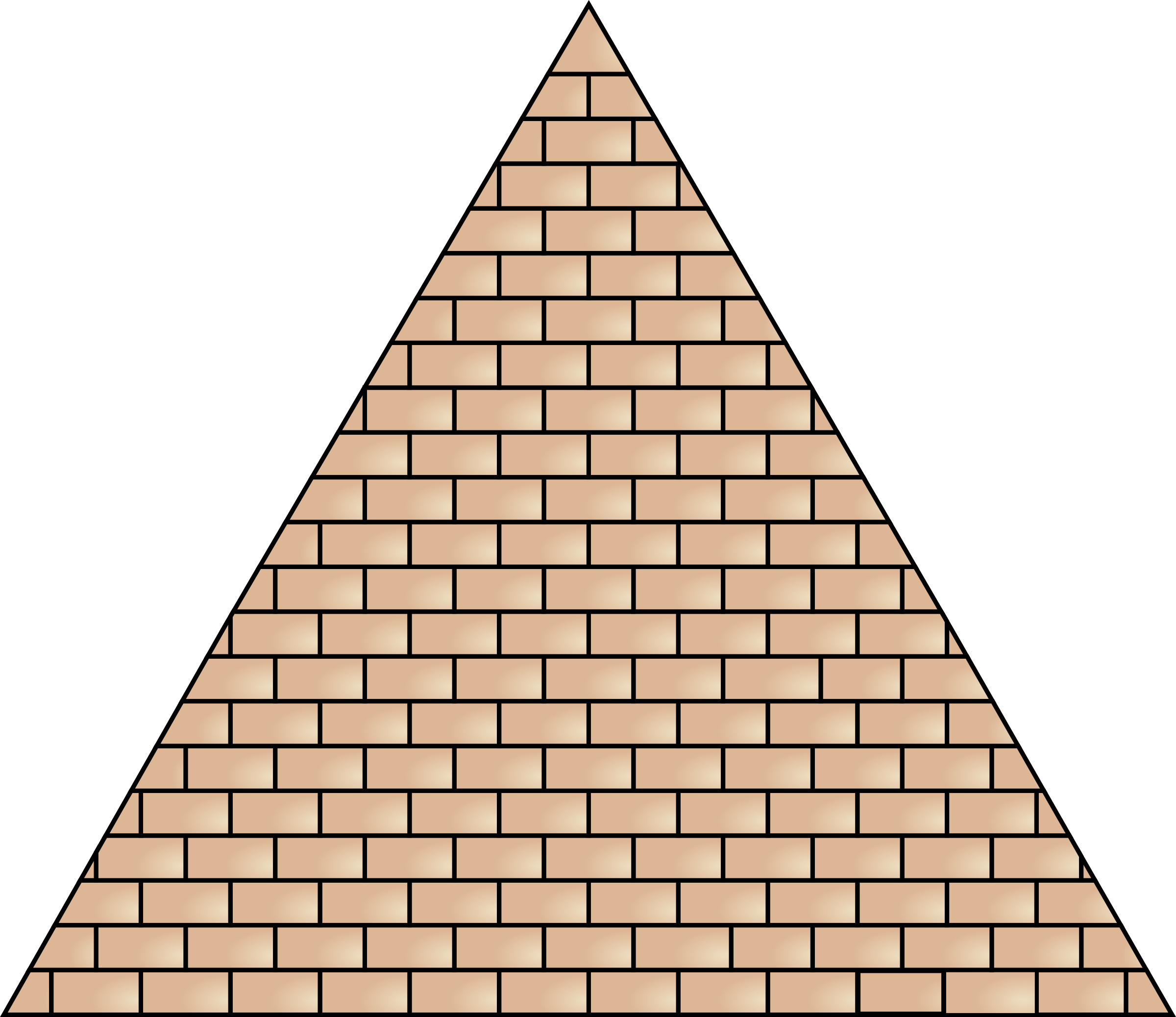 Transparent pyramid brick. Icons png free and