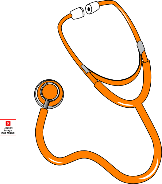 Stethoscope png vector. Orange by pep clip