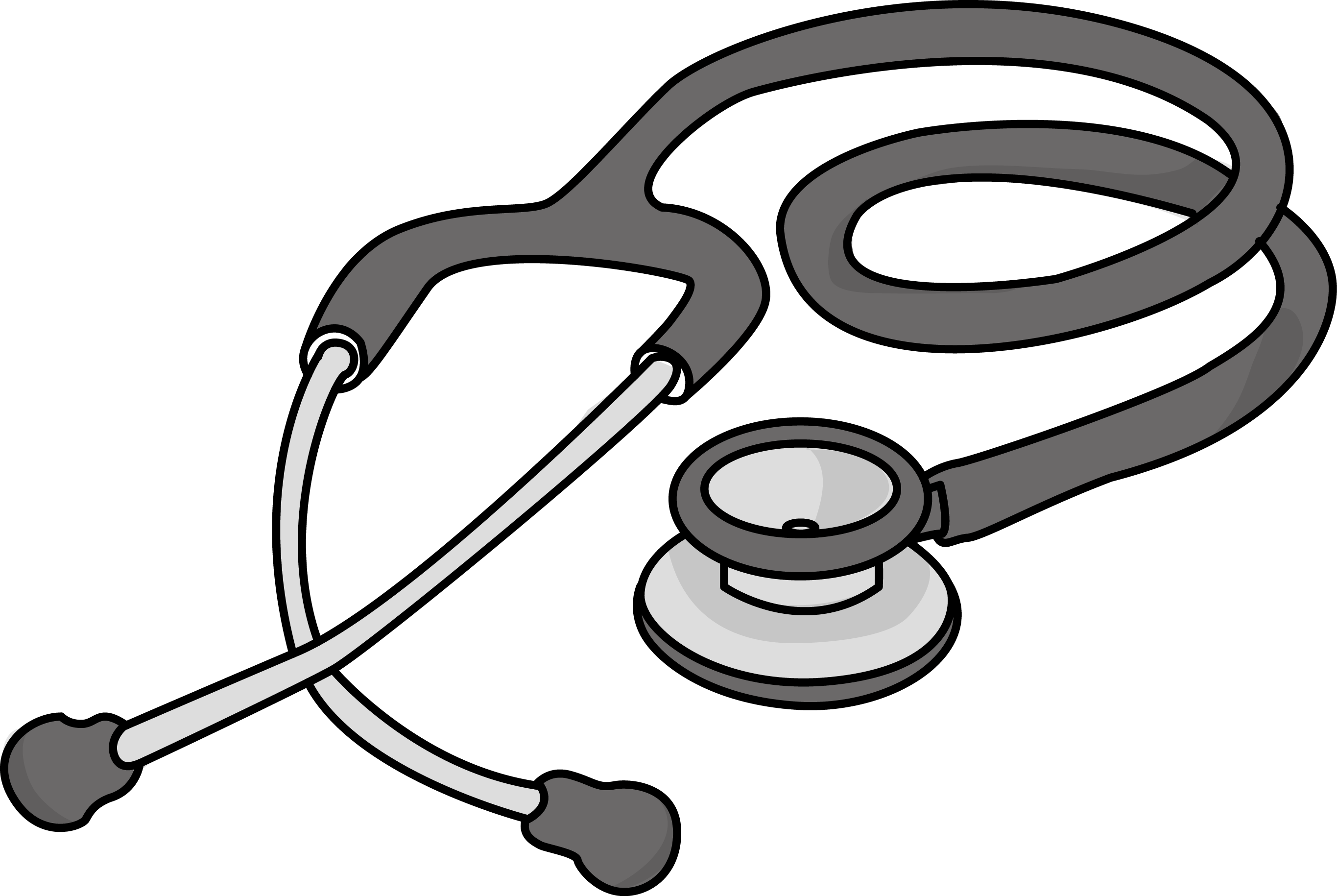 Transparent stethoscope medical. Image for free cardiology